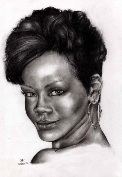 Rihanna by pottersportraits